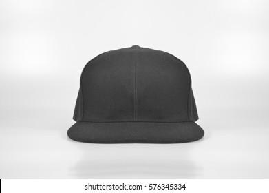 Black SnapBack Cap Front View