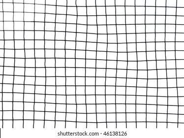 black soccer net texture isolated on white