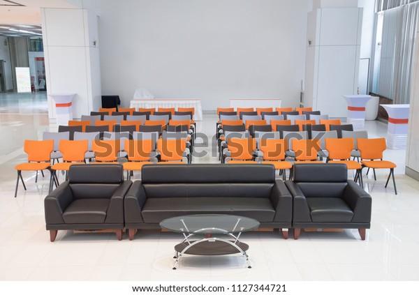 Black Sofa Set Mirror Table Orange Stock Photo Edit Now 1127344721