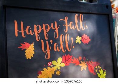 Black southern fall sign