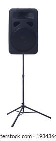 Black speaker isolated over white background