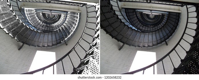 Black Spiral Staircase - looking up