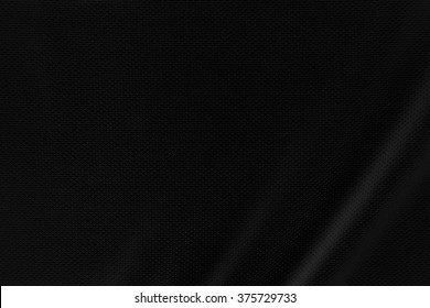 Black sport fabric texture background.