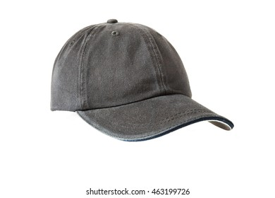 Black sports hat isolated on white front view