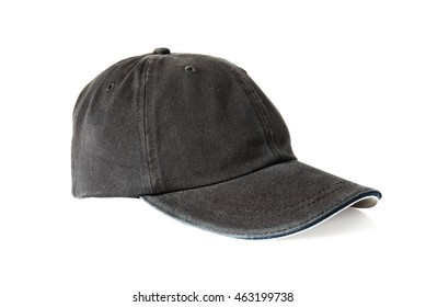 Black sports hat isolated on white