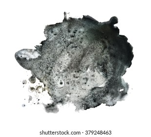 Black spot blotch on white background