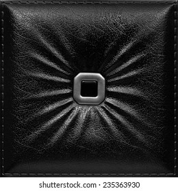 Black square decorative tile with texture of skin, nobody.