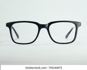 Black square frame glasses