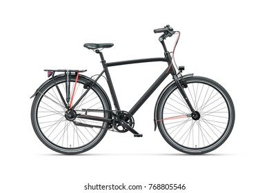 black stainless bicycle