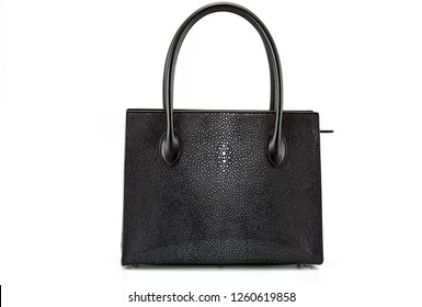 Black Stingray skin polish women bag