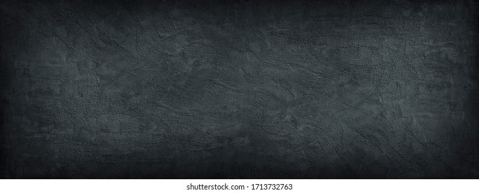 Black stone background. Dark gray banner with concrete wall surface texture.