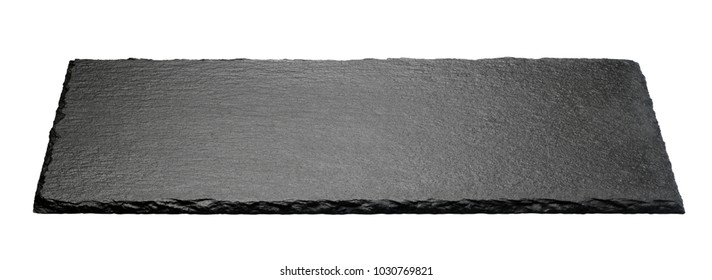 black stone plate isolated on white background