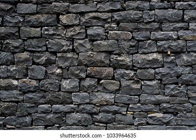 Black stone wall for background usage