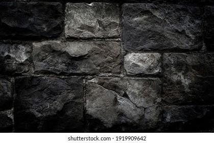 black stone wall texture background