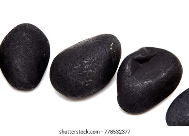 Black stones isolated on white