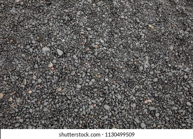 Black Stones on a Beach