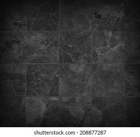 black stones tiled floor