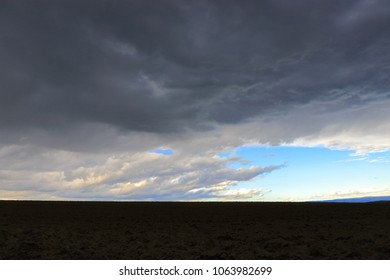 Black and stormy clouds in Pyrenees, France