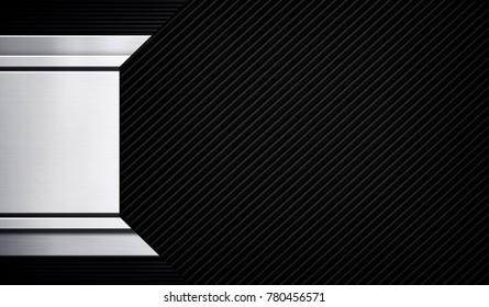 black striped metal background