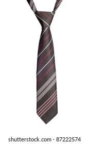 black striped necktie isolated on white