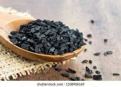 black Styrax on wooden spoons