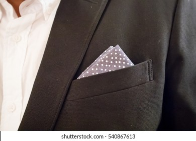Black Suite with Pocket Square