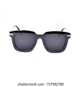 Black sunglasses isolated on white background