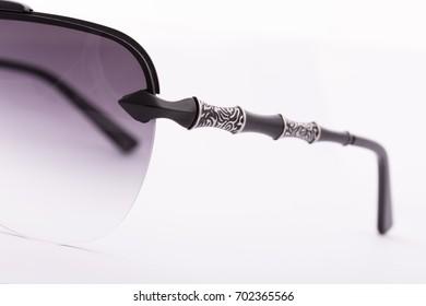 Black sunglasses on white