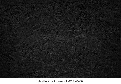 Black Surface  wall color texture pattern  background abstract,plaster texture floor, copy space for text,Concrete background gray suitable for use in vintage style.