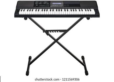 black synthesizer isolated