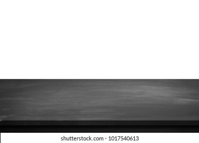Black table top isolated on white background.
