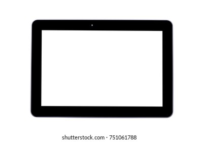 Black tablet isolated.
