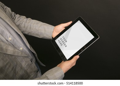 black tablet mockup