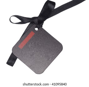 black tag or address label