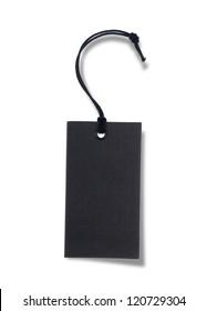 Black tag or label