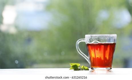 Black tea in a mug.