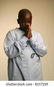 Black teenager posing