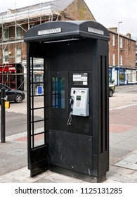 Black telephone box, Dorset, June 2018