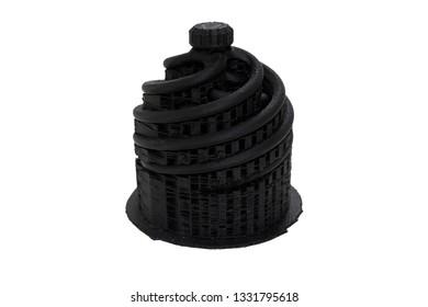 Black of test prototype of 3D printer. form plastic FDM system