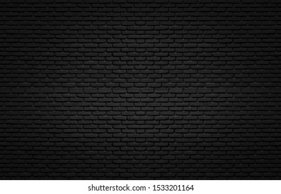 Black texture with brick wall for background website or design.