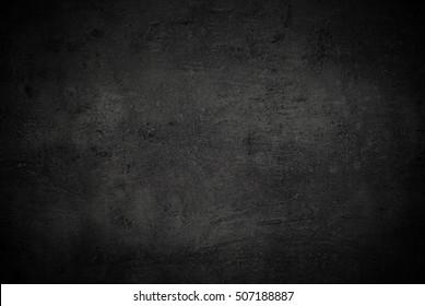 Black texture dark slate background. Beton concrete surface.