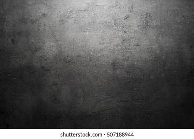 Black texture dark slate background. Stone concrete surface.