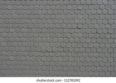 Black tiled roof for background usage