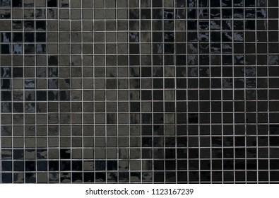 Black tiled Wall