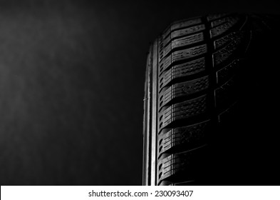 Black tire side lighting