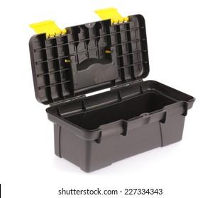 Black toolbox isolated on white background