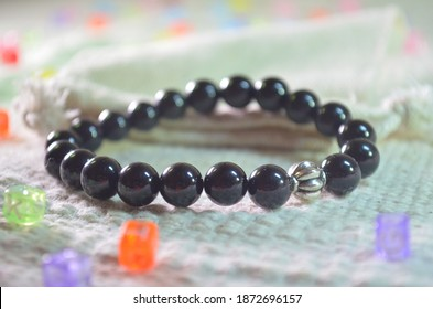 Black tourmaline bracelet is considered a powerful protective crystal.