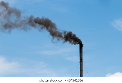 black toxic fume from coal power plant