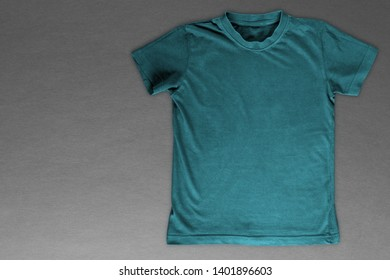 black t-shirt for advertising on a gray background