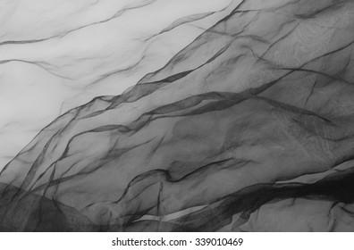 black tull - textile background